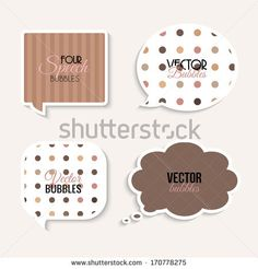 Vector colorful speech bubbles with text. - stock vector