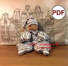 PDF doll PATTERN & Tutorial for making waldorf baby doll. Make a first doll comforter for your baby with your own hands - you can put so much love and positive emotions in this doll , that when you sew it , your positive attitude and kindness are transferred to your baby .   The finished doll is 12 inches ( 30 cm) , with hat - 16 inches (42 cm).  #Dollpattern #Softdollpattern #clothdollpattern #ragdollpattern #dollmaking #DollsewingNatashaArtDolls