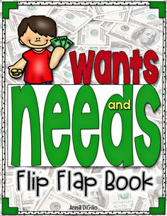 This Flip Flap Book on Wants and Needs and Goods and Services is ALL you will need to address these concepts during your unit on Economics!  It is FUN and INTERACTIVE!  Your kiddos will LOVE IT!