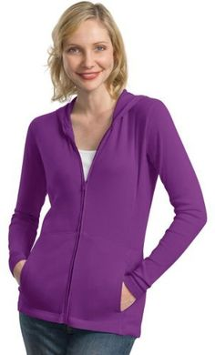 Port Authority Womens Stretch Cotton FullZip JacketMediumSprklng Grape -- Check out the image by visiting the link. (This is an affiliate link) #LadiesActivewear