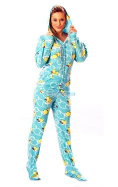 2e9f08a00b Blue Ducks - Drop Seat Pajamas - Pajamas Footie PJs Onesies One Piece Adult  Pajamas -