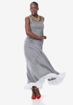 Grey Cotton Maxi Dress- £60 http://www.ker-i.com/collections/summer-clothes-collection/products/grey-cotton-maxi-dress