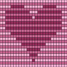 Striped Op-Art Hearts Chart -- Free Printable Striped Op-Art Hearts Chart for Crochet and Needlework