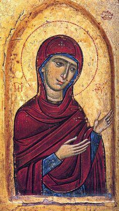 Theotokos (Mother of God), icon, Monastery of Sinai, 13th Century