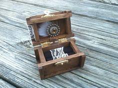 Rustic wedding ring box nautical beach side wedding by PineNsign, $32.00