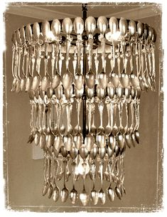 Spoon Chandelier...great in a kitchen or resturaunt design