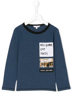 dc7f60ae01c6 Little Marc Jacobs patch detail long sleeved T-shirt
