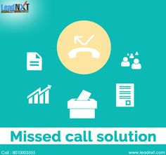 In today's developing environment different companies provides you with an innovative service of #MissedCallSolution to help your business flourish with minimal amount of investment.  See more @ http://bit.ly/1KM67gI #LeadNXT #MissedCallService