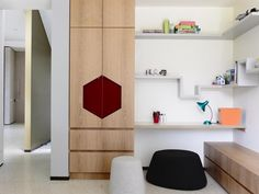 Swinburne Avenue Residence by Doherty Design Studio and Craig Rosetti Architects. Kids playroom with bespoke joinery.