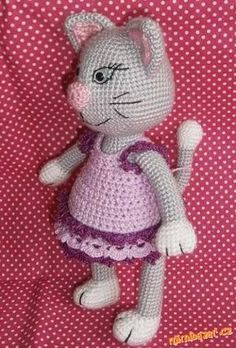 nekopírujte a nevkládejte na jiné stránky. prosím o respektování mého autorství :) přeji krásné p... Pet Toys, Free Crochet, Crochet Cats, Smurfs, Free Pattern, Hello Kitty, Diy And Crafts, Crochet Patterns, Snoopy