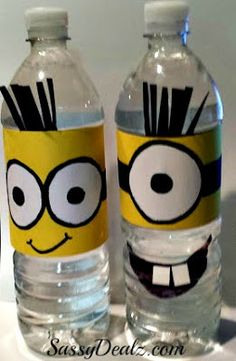 DIY: Despicable Me Minion Water Bottle Craft For Kids (Cover Tutorial) | SassyDealz.com