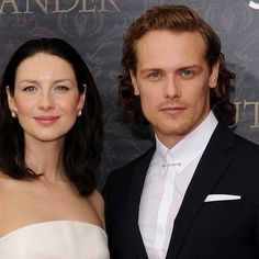 Outlander's Sam Heughan and Caitriona Balfe Smolder the Hell Out of the Red Carpet