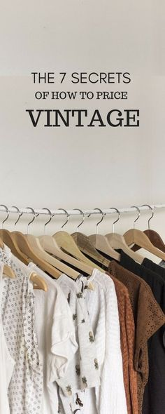 Keep reading after the jump for my 7 secrets to pricing vintage clothing, including advice on how to gauge the resale value of a vintage garment based on the piece's era, trend, quality, availability and designer along with how much you paid for it and the season you plan to sell it.