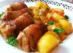 Pork Tenderloin Recipes, Tandoori Chicken, Chicken Wings, Sweet Potato, Sausage, Food And Drink, Potatoes, Treats, Vegetables