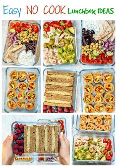 No-Cook Clean Eating Lunch Boxes 4 Creative Ways! No-Cook Clean Eating Lunch Boxes 4 Creative Ways!,Rezepte No-Cook Clean Eating Lunch Boxes 4 Creative Ways! Ways To Eat Healthy, Healthy Sweet Snacks, Healthy Meal Prep, Healthy Cold Lunches, Healthy Travel Food, Clean Lunches, Quick Healthy Lunch, Kid Lunches, Cold Meals