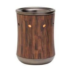 Hardwood Scentsy Warmer: Dark wood-toned planks encircle this hip warmer for your man cave or living room. Buy it here: http://www.scentsifyme.com/hardwood-scentsy-warmer