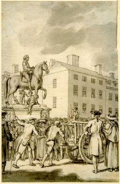 Figure 4 - Print Study/ Drawing - Samuel Wale - 1730-86 - engraved in reverse, 'Tyburn Chronicle', Vol II, frontispiece.