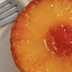 Individual upside-down pineapple cake