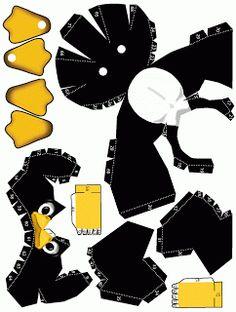 Penguin Papercraft Template