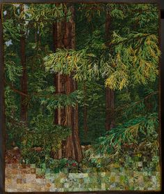 Thread painted #forest #quilt