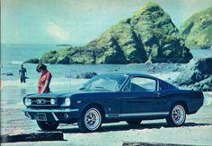 1966 Mustang Vintage Nightmist Blue