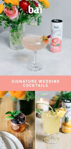 """Craft a wedding cocktail that'll have everyone's taste buds saying, """"I do.""""  Must be 21+. Please drink responsibly."""