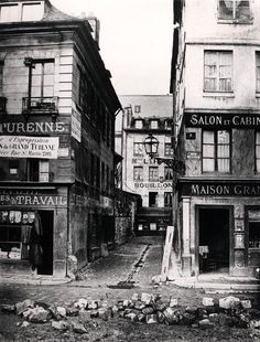 by Charles Marville - Paris 4 rue de Breteuil, view taken from rue Reaumur towards rue Vaucanson, 1858-78