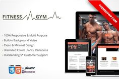 Fitness & Gym Bootstrap HTML Templates **Fitness – Gym Bootstrap HTML Template** will be fit with your fitness, gym, workout, healty life w by themeofwp