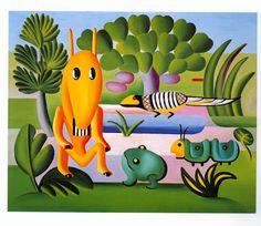 Amazing painting by Brazilian artist Tarsila do Amaral
