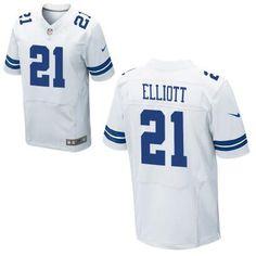 2282c9c6cde Men s NFL Dallas Cowboys  21 Ezekiel Elliott 2016 Draft White Elite Jersey  Nfl Jerseys For