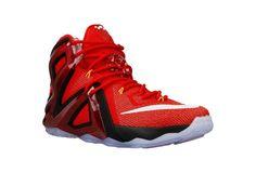 Nike Men's Lebron XII Elite Basketball Shoes 724559 618 Red/White/Black  Size 11