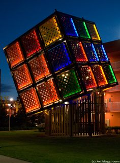 Rubik's Cube Staircase, Disney's Pop Century Resort (Lake Buena Vista, FL)
