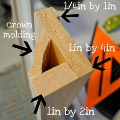 Little Bit Funky: how to make a photo ledge. I want to use this idea to put molding in the corners of the house