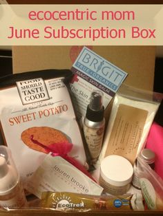 ecocentric mom Subscription Box June