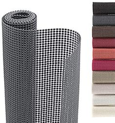 Amazon.com: Smart Design Shelf Liner Classic Grip - (12 Inch x 10 Feet) - Drawer Cabinet Non Adhesive Protection - Home & Kitchen [Graphite Gray]: Home & Kitchen