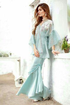 Pak Couture — Suffuse by Sana Yasir Pakistani Wedding Outfits, Pakistani Dresses Casual, Pakistani Dress Design, Fancy Dress Design, Stylish Dress Designs, Designer Party Wear Dresses, Indian Designer Outfits, Designer Kurtis, Sleeves Designs For Dresses