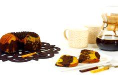 Cómo hacer bizcocho marmolado de calabaza y chocolate en crock pot o slow cooker. Descubre ésta y otras recetas de bizcochos en olla de cocción lenta.