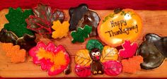 Festive Thanksgiving Cookies   by Customcrafty on Etsy