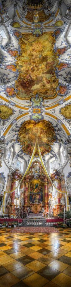 Basilica of Vierzehnheiligen - Bad Staffelstein, Germany (HDR Vertorama) - resize