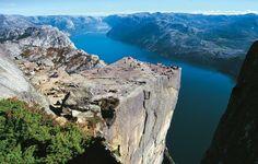 Preikestolen is a steep and massive cliff 604 metres (1982 feet).