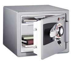 Fire Safe Combination Safe by SentrySafe. Save 37 Off!. $171.97. Impact and Burglary Rated.. An ETL certified media safe with dual lock security.. 1 Hour UL and ETL Fire Rated.. 3-number Combination and Key Lock.. Metal safe comes in Gunmetal Gray.. OS0401  Features: -UL Classified 1-hour proven fire protection.-Key rack and compartment for small items.-Multi-position tray.-Holds standard and A-4 size papers and binders.-Door pocket.-Metal handle.-3-number combination with clicking dia...