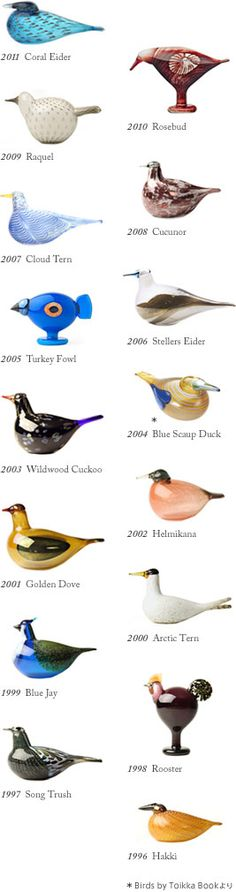 Iittala design.  Birds by Oiva Toikka  Mirella (Annual Bird & Egg 2012) These are a big collectors' item.