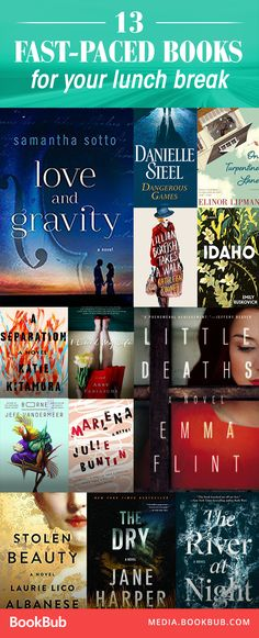 13 fast-paced books to read on your lunch break. These quick, short page-turners are worth a read.