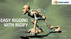 blender tutorial,easy rigging with rigify add-on