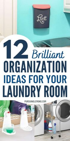 12 Laundry Room Organization Hacks That Will Make Your Life So Much Easier. Take these laundry room organization tricks and apply them to your own laundry room today! #laundryhacks #laundryorganization #laundryroom #organization Small Bathroom Organization, Clutter Organization, Small Space Organization, Home Organization Hacks, Organization Ideas, Storage Ideas, Getting Organized At Home, Diy Rack, Declutter Home