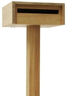 Woddy Todd Freestanding #Letterbox hand made by Robert Plumb. Modern #design incorporating a weather flap. Large entry slot and large door makes mail easy to remove, safety lock. Constructed from New Guinea Rosewood. SHOP :: Home & Furniture :: Garden :: Woddy Todd Freestanding Letterbox - COUNTRY CULTURE