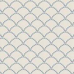 Blue Embroidered Scallop Motif Fabric 18in