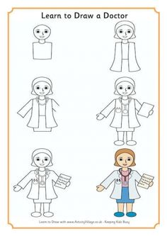 Learn to draw a nurse peoples en 2018 pinterest - Mouton a dessiner ...
