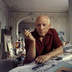 STYLE, CUBED   Though partial to Breton stripes, Pablo Picasso looked laid-back and chic in a terry-cloth polo shirt at his studio in Cannes in 1956.