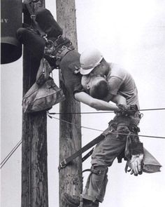 The Kiss Of Life by Rocco Morabito - 1968 Pulitzer Prize. Photographer Rocco Morabito, whose shot of a utility worker saving the life of a fellow lineman who had been shocked by a high-voltage wire won a Pulitzer Prize in